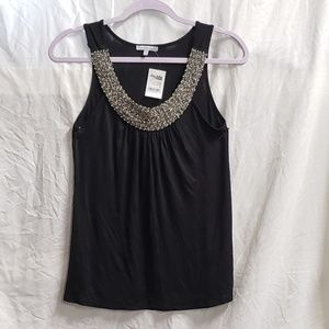 BNWT CHARLOTTE RUSSE SEQUINS NECKLINE TOP SMALL